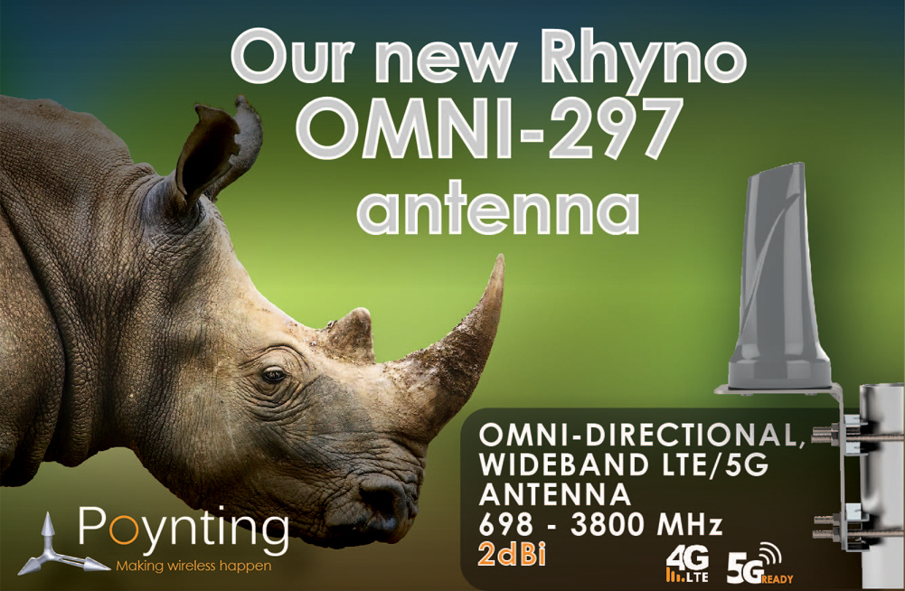 New Product - Our new Rhyno OMNI-297 antenna