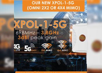 New XPOL-1-5G Omni-Directional MIMO Antenna